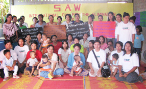SAW was founded in 2000 by women living on the Thai-Burmese border. SAW supports women and children by providing shelter, health
