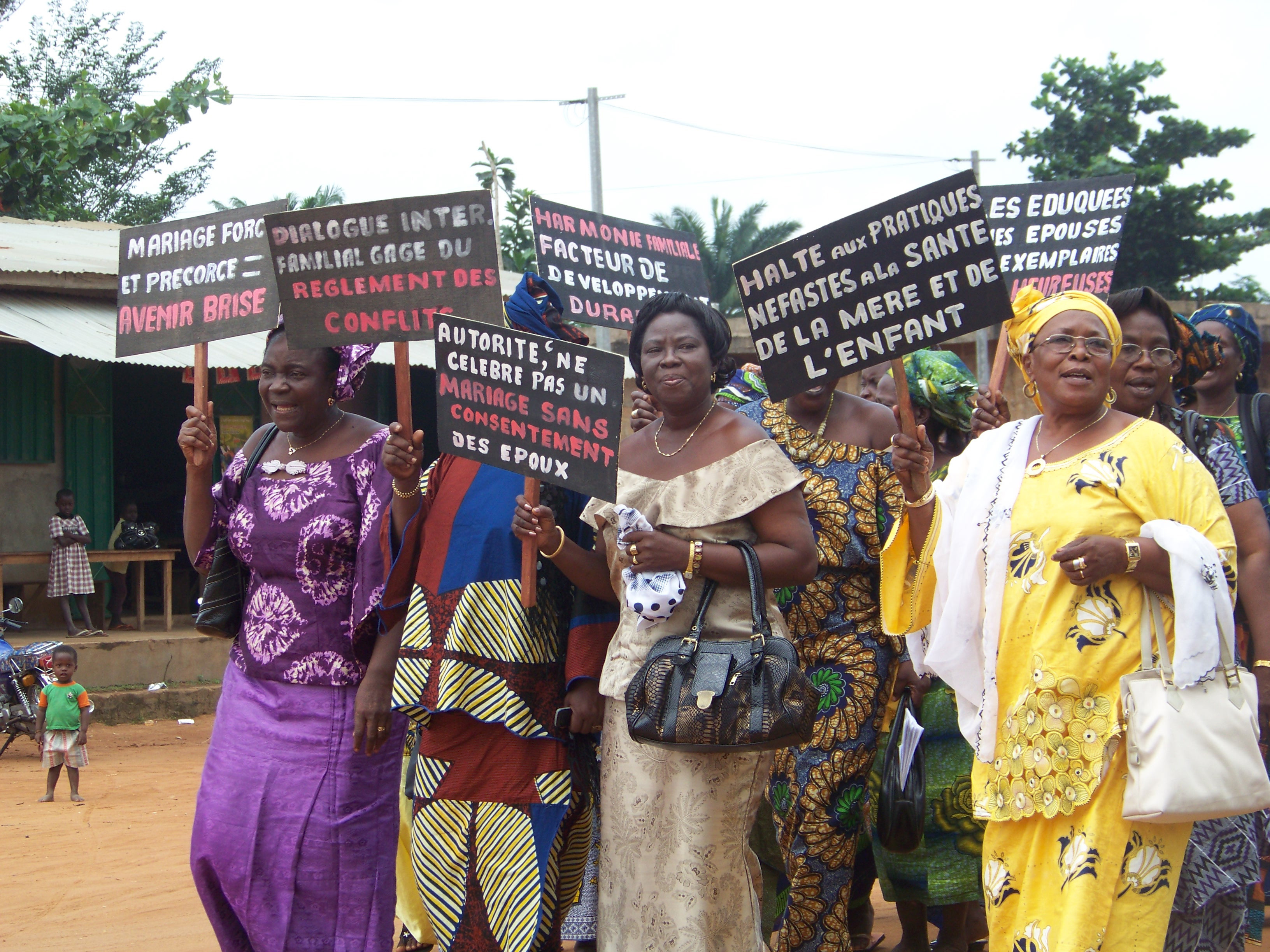Women march to end gender-based violence in Ouémé, Benin