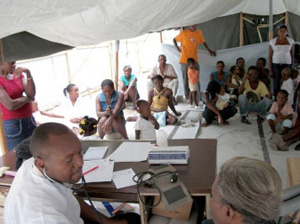 Clinic set up in Asile Comunal.