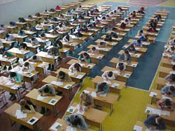 The National Scholarship Test was administered at over 80 sites across Kyrgyzstan in 2005.