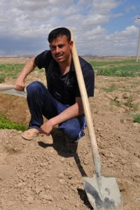 A $5,000 loan, made possible with assistance from USAID, helped Khalil Ismail Elyas expand his farm and nearly double his monthl