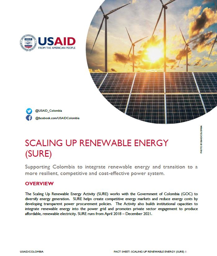 Scaling Up Renewable Energy (SURE) Fact Sheet