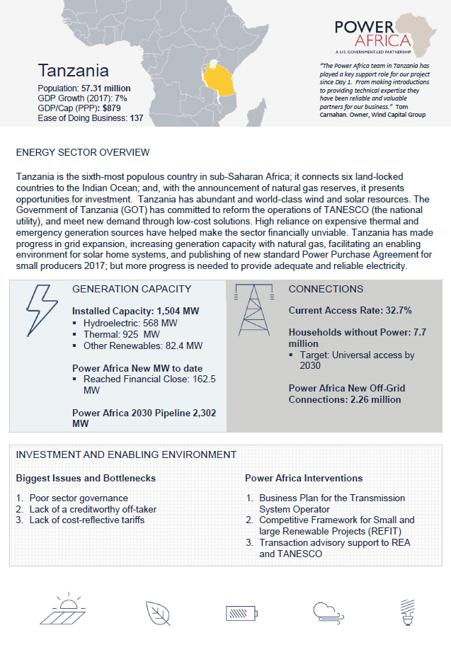 Power Africa in Tanzania | Power Africa | U S  Agency for
