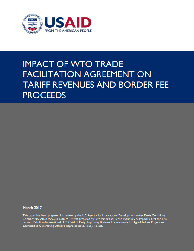 Impact Of Wto Trade Facilitation Agreement On Tariff Revenues And