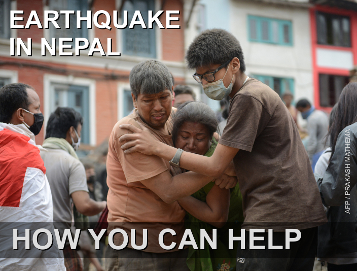 Earthquake in Nepal: How You Can Help. Credit: AFP / Prakash Mathema