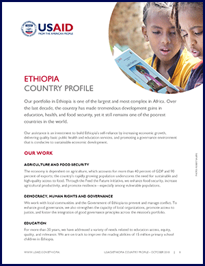 Ethiopia Country Profile Factsheet. Click to view