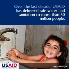 Over the last decade, USAID has delivered safe water and sanitation to more than 50 million people.