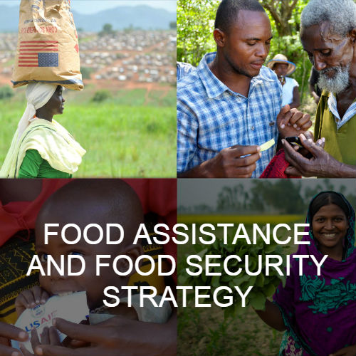 cover: Food Assistance and Food Security Strategy document. Click to read