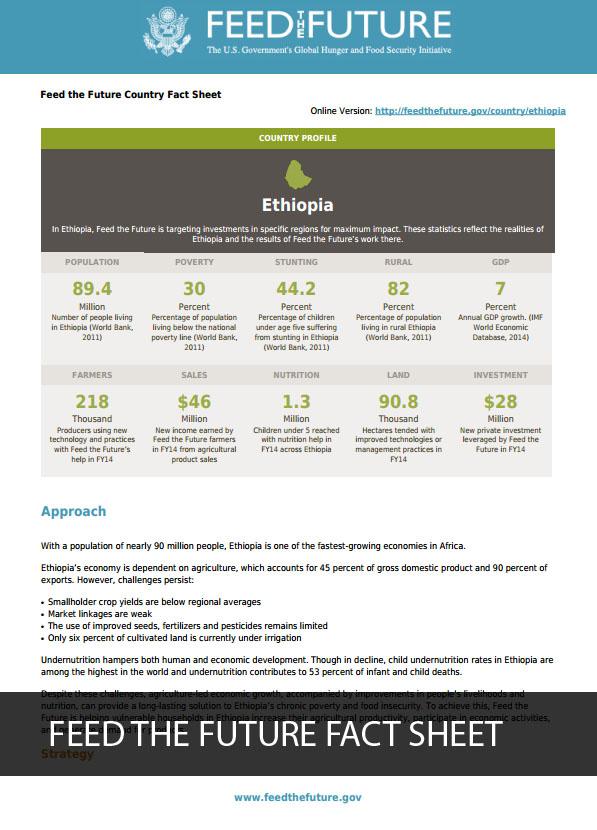 Ethiopia Feed the Future Fact Sheet