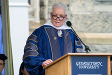 Administrator Gayle Smith at McCourt School of Public Policy Commencement Ceremony. Credit: Phil Humnicky/Georgetown University