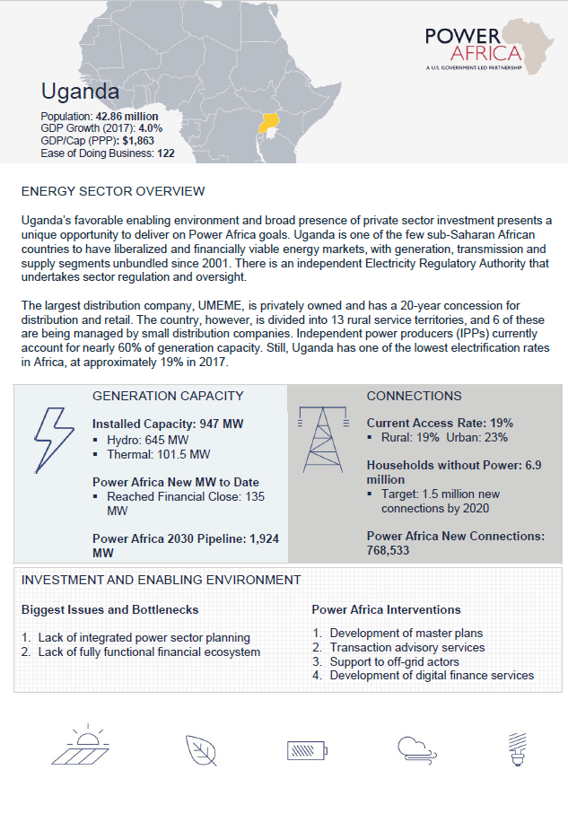 Power Africa Uganda Fact Sheet
