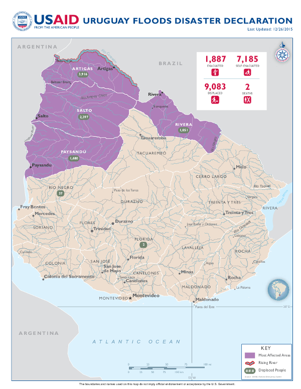 Uruguay Disaster Assistance US Agency For International - Us foreign aid map