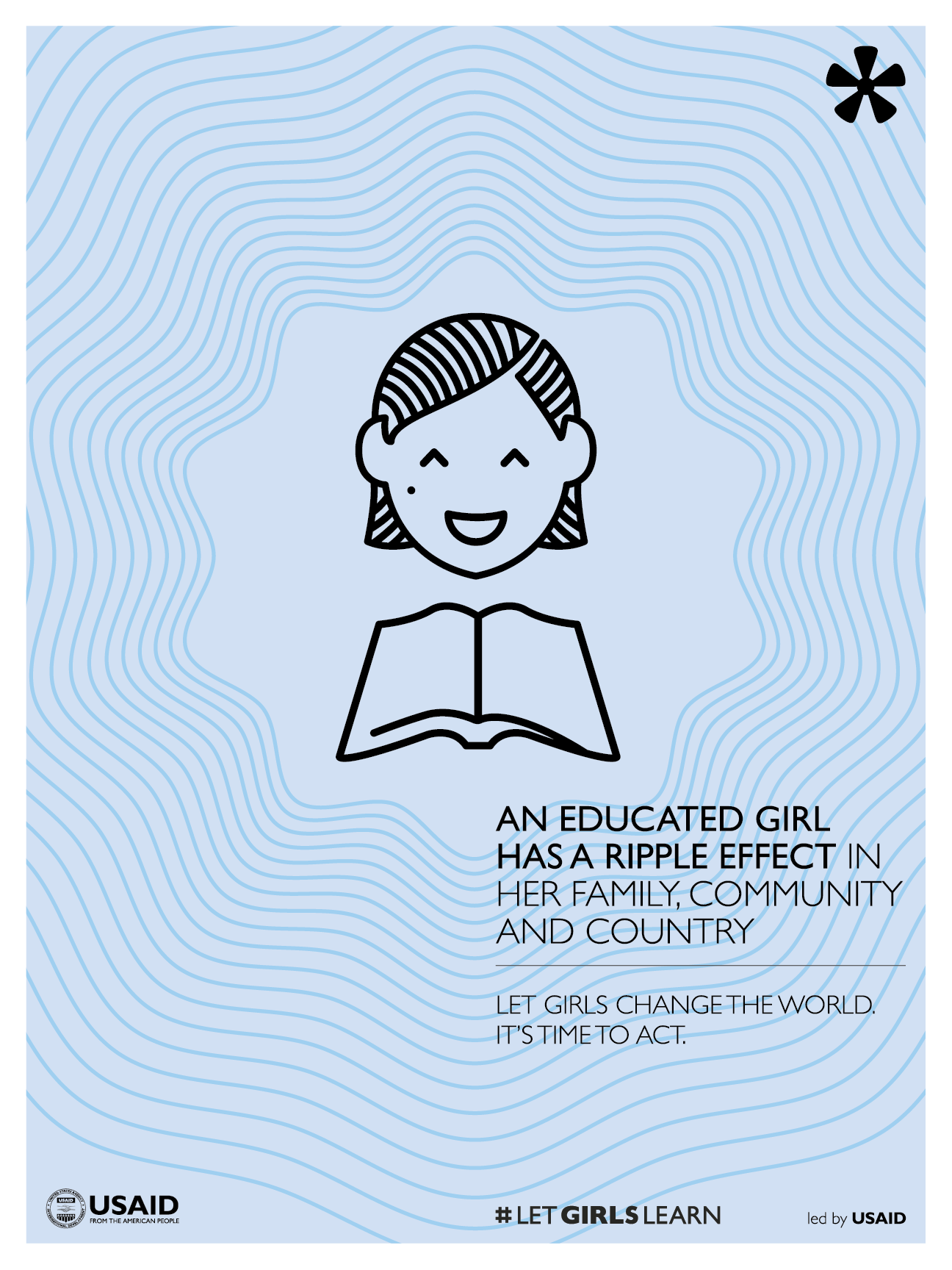 Poster - An Educated Girl Has A Ripple Effect. Click to download printable PDF.
