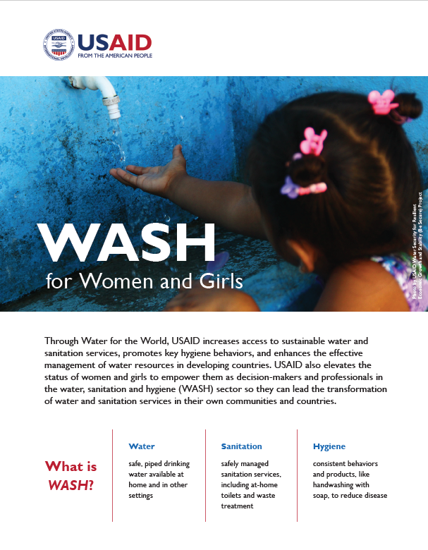 WASH for Women and Girls Fact Sheets