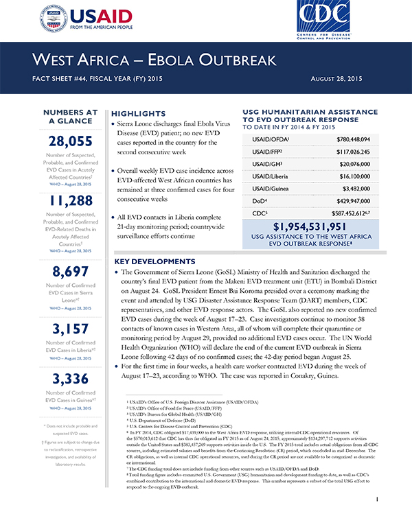 West Africa Fact Sheet #44 - 08-28-2015