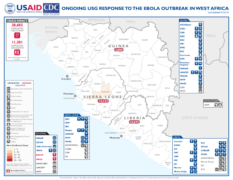 West Africa Map - 01-21-2016