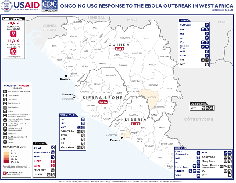 West Africa Map - 06-24-2016