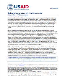 Ending Extreme Poverty in Fragile Contexts // Getting to Zero: A USAID Discussion Series