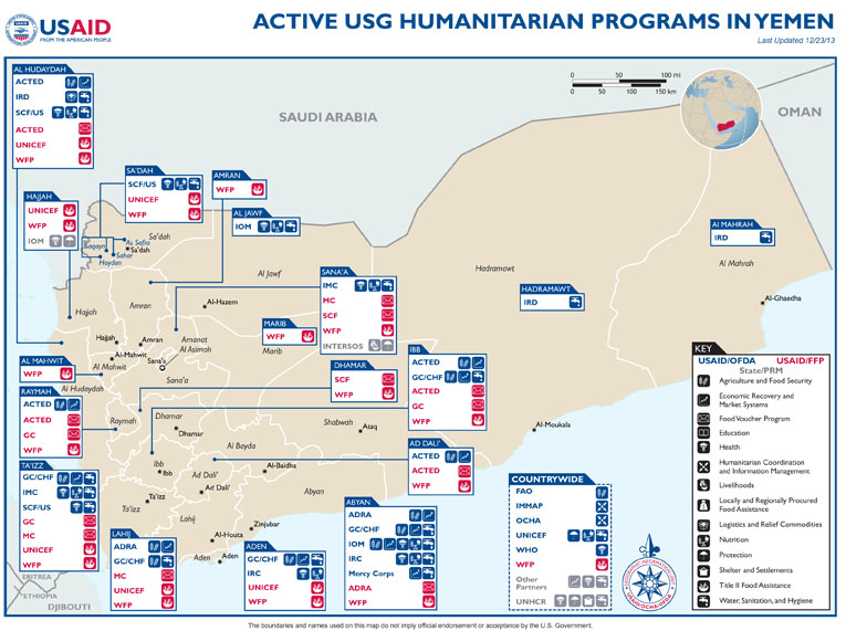 Yemen Complex Emergency Program Map - 12-23-2013